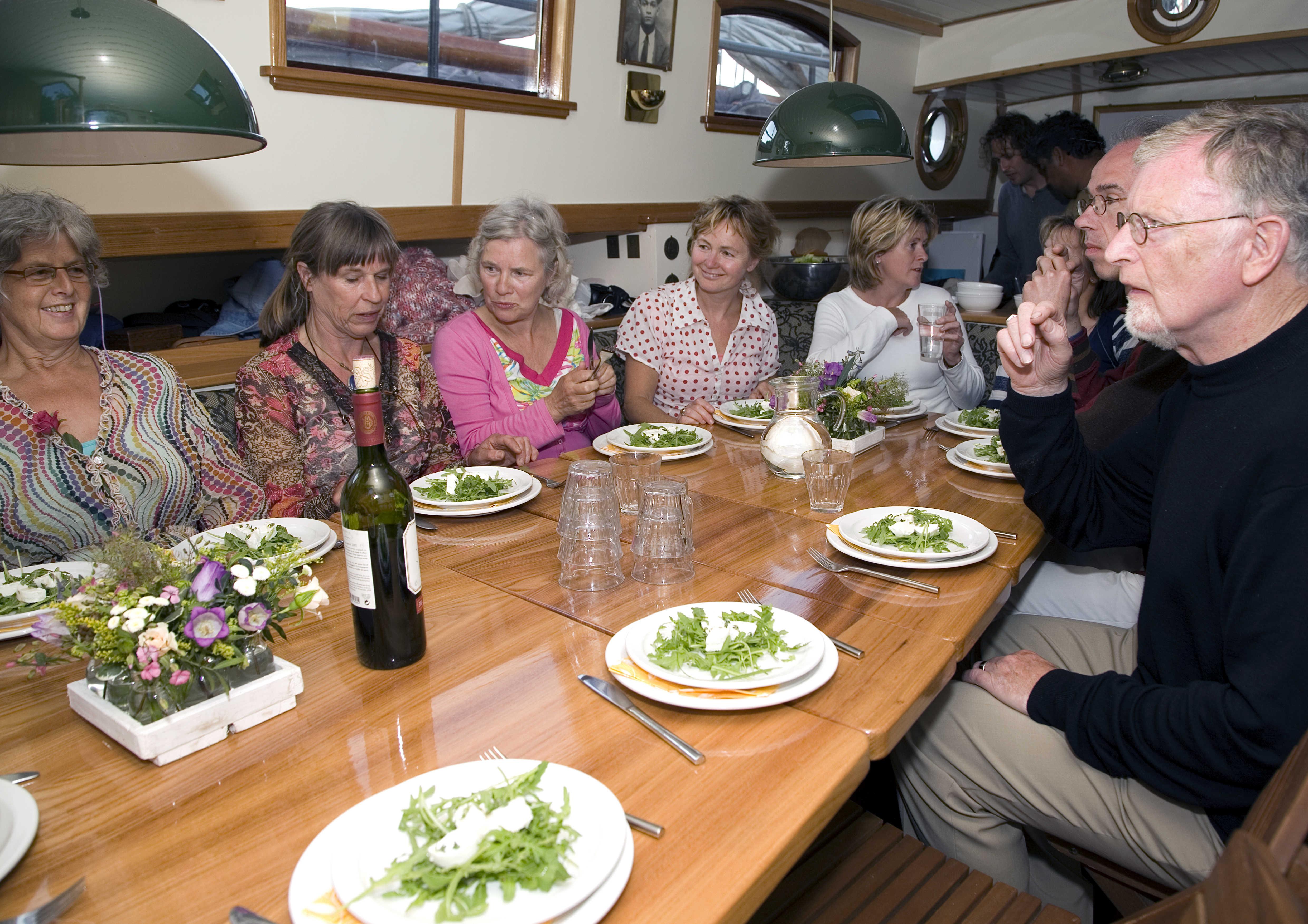 feestlocatie op het IJsselmeer of de Waddenzee