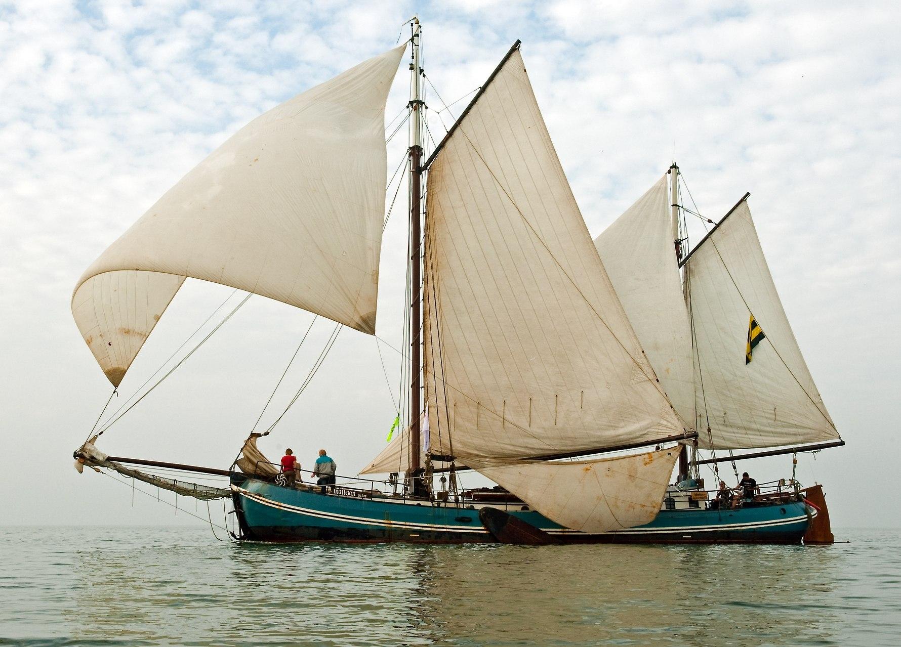 zaken doen op een zeilschip